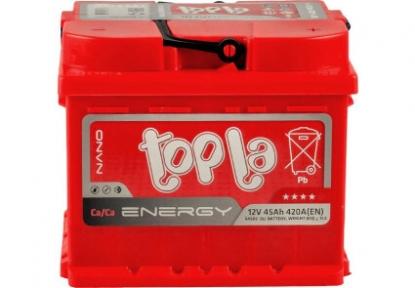 Аккумулятор автомобильный Topla 6СТ- 45Ah R+ 390A