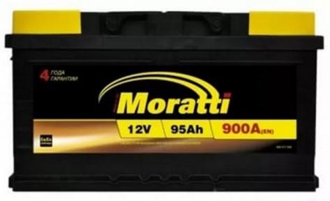 Аккумулятор Moratti 95Ah R+ 900A (низкобазовый)