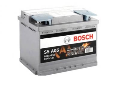 Аккумулятор Bosch S5 A05 AGM 60Ah R+680A