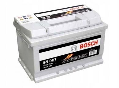 Аккумулятор Bosch S5 007 Silver Plus 74AH R+750A (Низкобазовый)