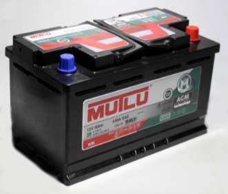 Аккумулятор Mutlu AGM Start-Stop 80Ah R+ 800A