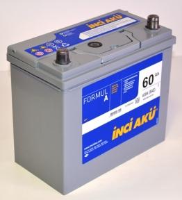 Аккумулятор INCI-AKU Formul A 60Ah JR+ 430A (корпус 45Ah)