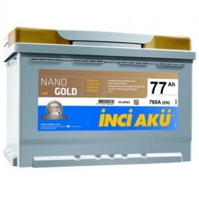 Аккумулятор INCI AKU NanoGold Start-Stop 77Ah R+ 760A