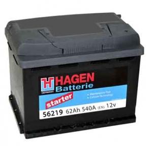 Аккумулятор Hagen 62Ah L+ 540A