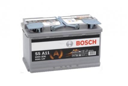 Аккумулятор Bosch S5 A11 AGM 80Ah  R+ 800 ампер