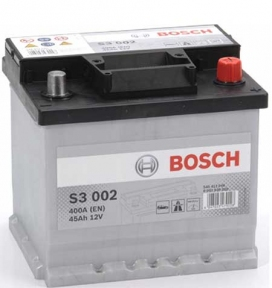 Аккумулятор BOSCH S3 002 45 Ah R+400 ампер  (EN)