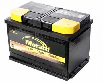 Аккумулятор Moratti 75Ah R+ 750A