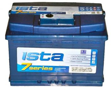 Аккумулятор Ista 7 series 74Ah R+ 720A