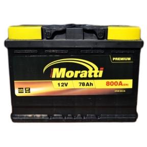 Аккумулятор Moratti 78Ah R+ 800A