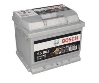 Аккумулятор Bosch S5 001 Silver Plus 52AH R+520A (EN) (Низкобазовый)