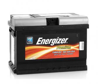 Аккумулятор автомобильный ENERGIZER 6СТ- 60Ah R+ 540A Premium 560