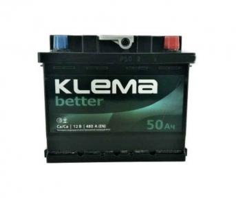 Аккумулятор Klema better 50Ah R+ 480A