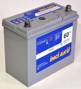 Аккумулятор INCI-AKU Formul A 60Ah JL+ 430A (корпус 45Ah)