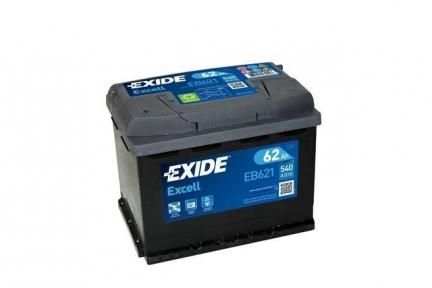 Аккумулятор Exide Excell 62Ah R+ 540A