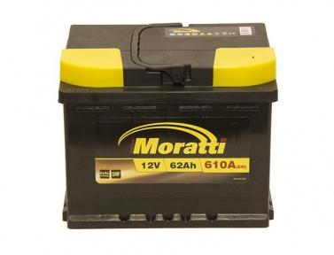 Аккумулятор Moratti 62Ah R+ 610A