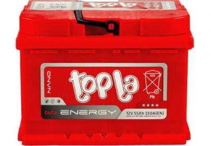 Аккумулятор автомобильный Topla 6СТ- 55 Ah R+ 480A