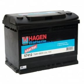 Аккумулятор Hagen 74AH R+ 680A