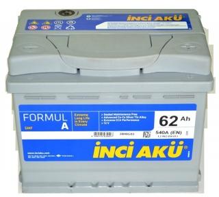 Аккумулятор INCI-AKU Formul A 62Ah R+ 540A