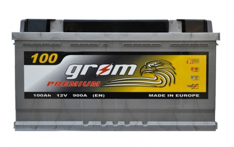 Аккумулятор Grom Premium 100Ah R+ 900A