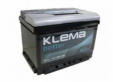 Аккумулятор Klema better 60Ah R+ 600A (низкобазовый)
