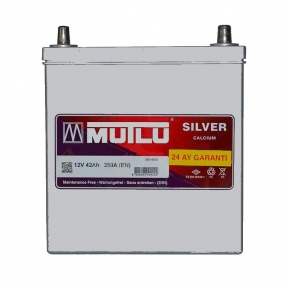 Аккумулятор Mutlu Silver Calcium 42Ah JR+ 350A (тонкая клемма)