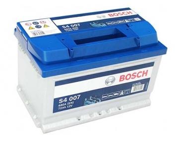 Аккумулятор Bosch S4 007 Silver 72Ah R+ 680 ампер (Низкобазовый)