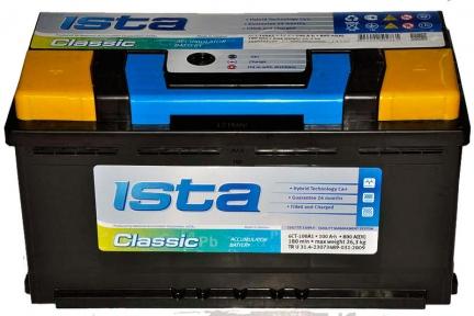 Аккумулятор Ista Classic 100Ah L+ 800A