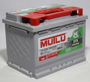 Аккумулятор Mutlu EFB Start-Stop Technology 63Ah R+ 600A
