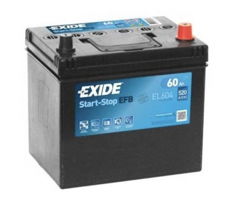 Аккумулятор Exide EFB 60Ah JR+ 520A (EL604)