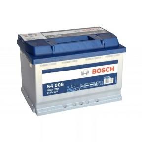 Аккумулятор Bosch 74AH S4 008 Silver R+680A