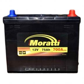 Аккумулятор Moratti 75Ah JR+ 700A