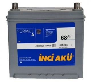 Аккумулятор INCI-AKU Formul A 68Ah JR+ 600A