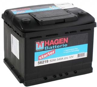 Аккумулятор Hagen 62AH R+ 540A