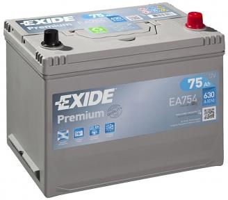 Аккумулятор Exide PREMIUM 75Ah JR+ 630A