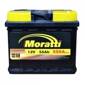 Аккумулятор Moratti 55Ah L+ 550A (низкобазовый)