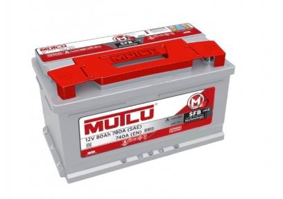 Аккумулятор Mutlu SFB Technology 80Ah R+ 740A (низкобазовый)