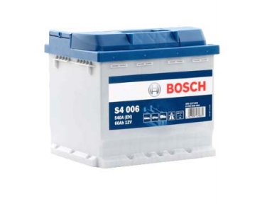 Аккумулятор Bosch S4 006 Silver 60AH L+540A
