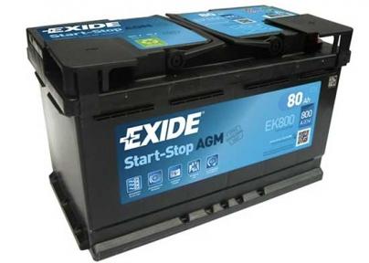 Аккумулятор Exide AGM 80 Ампер R+ 800A
