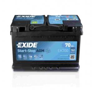 Аккумулятор Exide AGM 70Ah R+ 760A