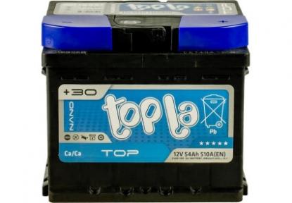 Аккумулятор автомобильный Topla 6СТ- 54Ah R+ 510A