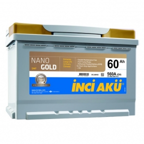 Аккумулятор INCI AKU NanoGold Start-Stop 60Ah R+ 560A