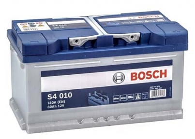 Аккумулятор Bosch S4 010 Silver 80AH R+740A (Низкобазовый)