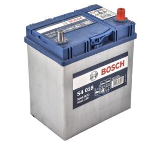 Аккумулятор Bosch S4 018 Silver 40Ah JR+ 330A (тонкая клемма)