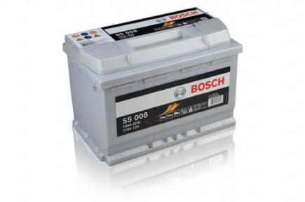 Аккумулятор Bosch S5 008 Silver Plus 77AH R+780A