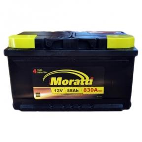 Аккумулятор Moratti 85Ah R+ 830A (низкобазовый)