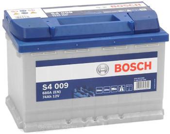Аккумулятор Bosch 74Ah S4 009 Silver L+680A