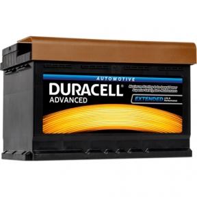 Аккумулятор автомобильный Duracell 6СТ- 74Ah R+ 680A