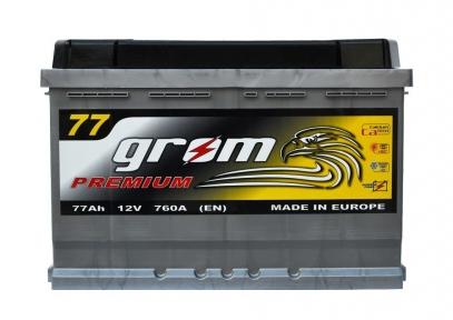 Аккумулятор Grom Premium 77Ah R+ 760A