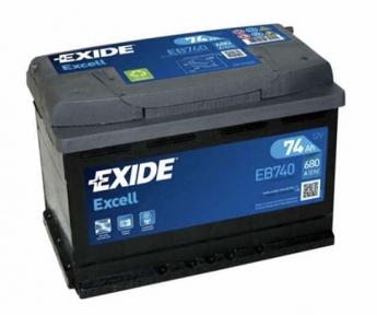 Аккумулятор Exide Excell 74Ah R+ 680A