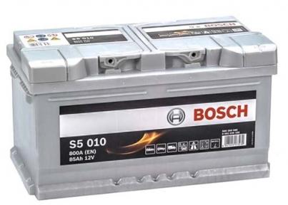 Аккумулятор Bosch S5 010 Silver Plus 85AH R+800A (Низкобазовый)